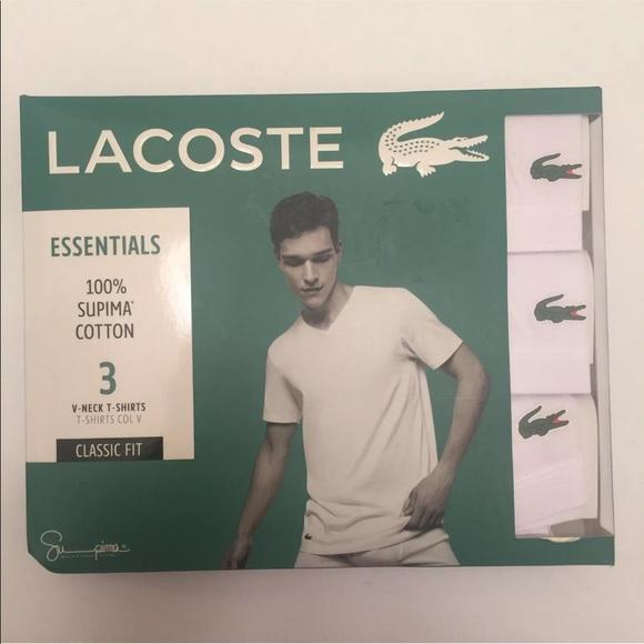 93a8f609 Lacoste Underwear & Socks   New 3pk Vneck Mens Undershirts   Poshmark